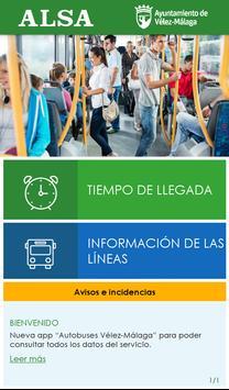 Autobuses Vélez-Málaga poster