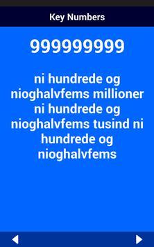 Danish Number Whizz screenshot 13