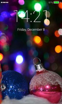 Christmas Balls Lock Screen screenshot 1