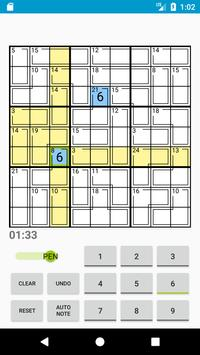 Killer Sudoku apk screenshot
