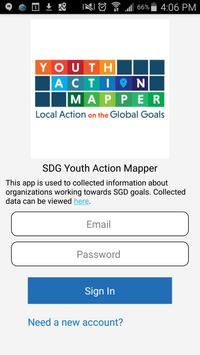 SDG Youth Action Mapper poster