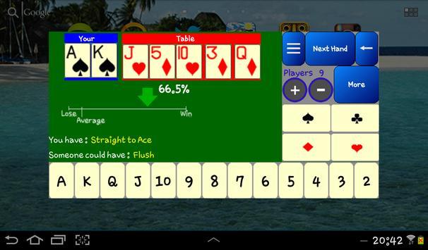 Poker Odds Calculator Free apk screenshot