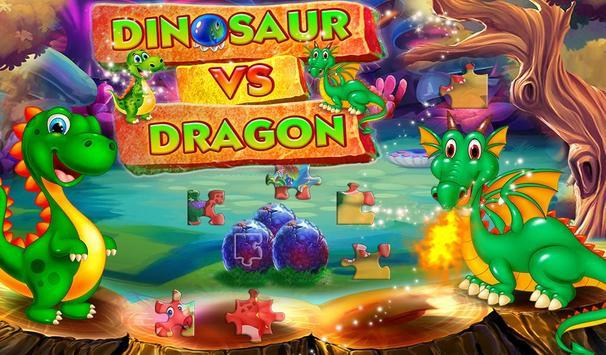 Dinosaur VS Dragon Puzzle: Jigsaw Free Games poster