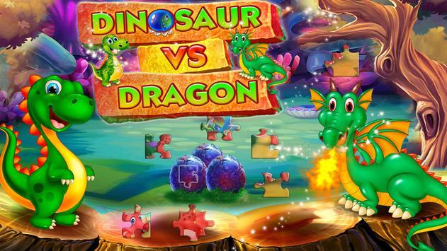 Dinosaur VS Dragon Puzzle: Jigsaw Free Games screenshot 10