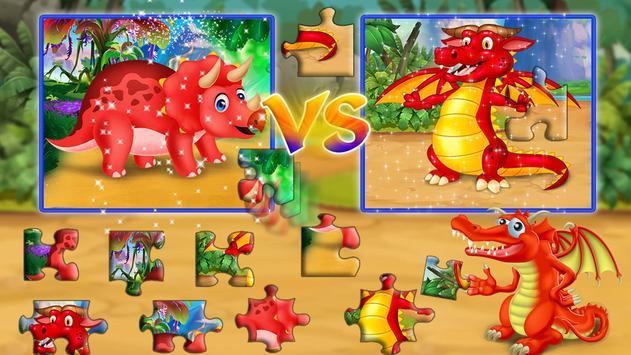 Dinosaur VS Dragon Puzzle: Jigsaw Free Games screenshot 11