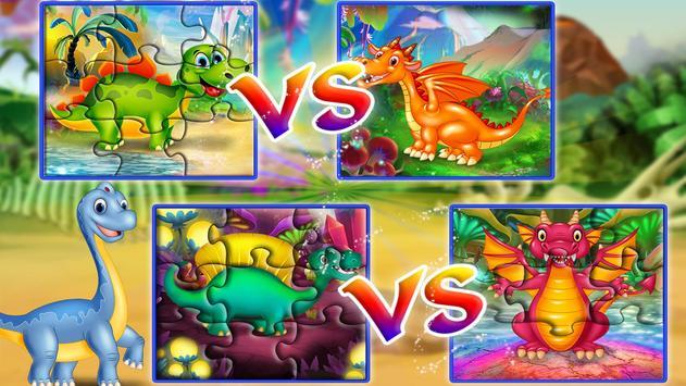 Dinosaur VS Dragon Puzzle: Jigsaw Free Games screenshot 14