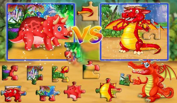 Dinosaur VS Dragon Puzzle: Jigsaw Free Games screenshot 1