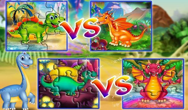 Dinosaur VS Dragon Puzzle: Jigsaw Free Games screenshot 4