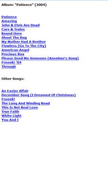 George Michael Lyrics poster