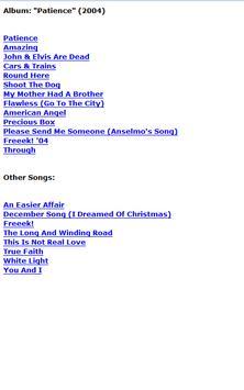 George Michael Lyrics screenshot 2