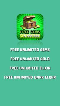 Gems Generator for COC Prank poster