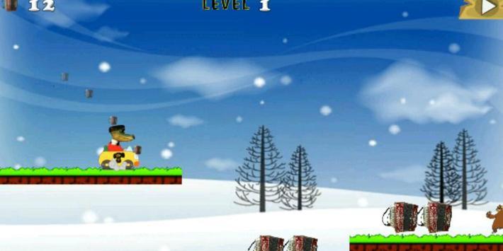 Gena Croc Car Run apk screenshot
