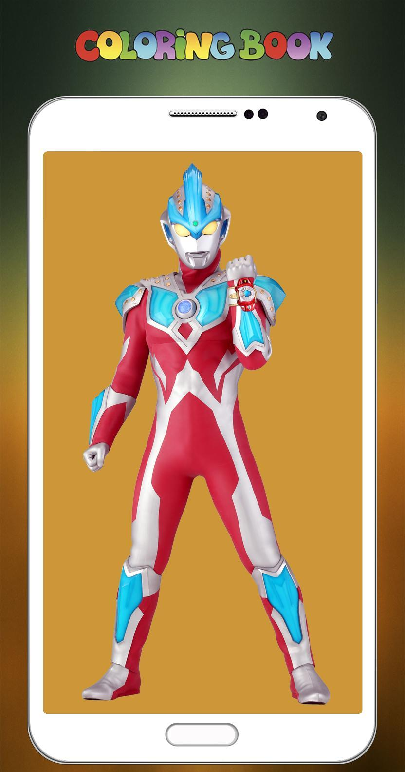 Mewarnai Gambar Ultraman Ginga - pulp