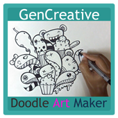 Art Doodle Maker Name icon