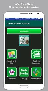 Art Doodle Maker Name poster
