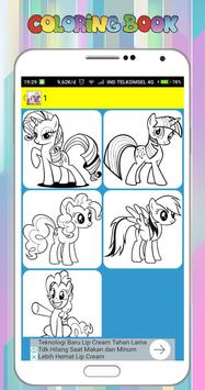 Coloring Book for My Little Pony poster