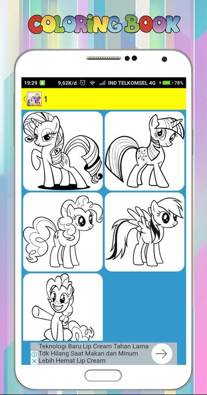 Coloring Book For My Little Pony For Android Apk Download