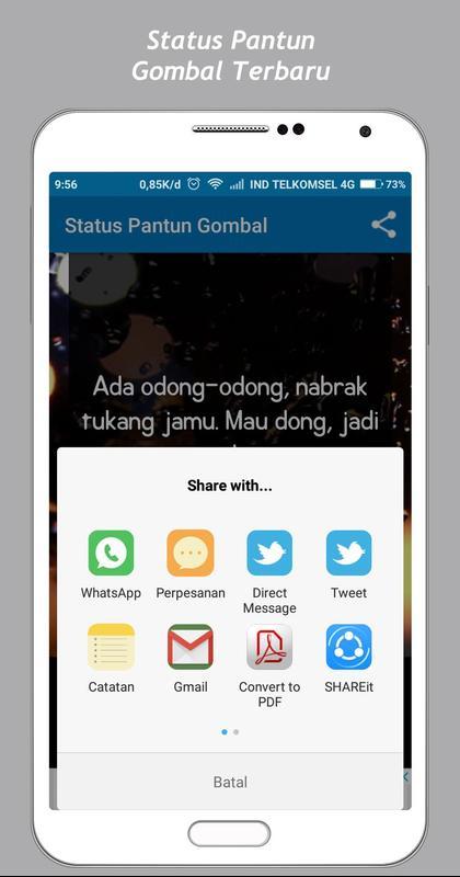 Pantun Gombal Status 40 For Android APK Download 6025 Pantun Gombal Maut
