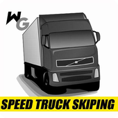 speed truck skiping icon