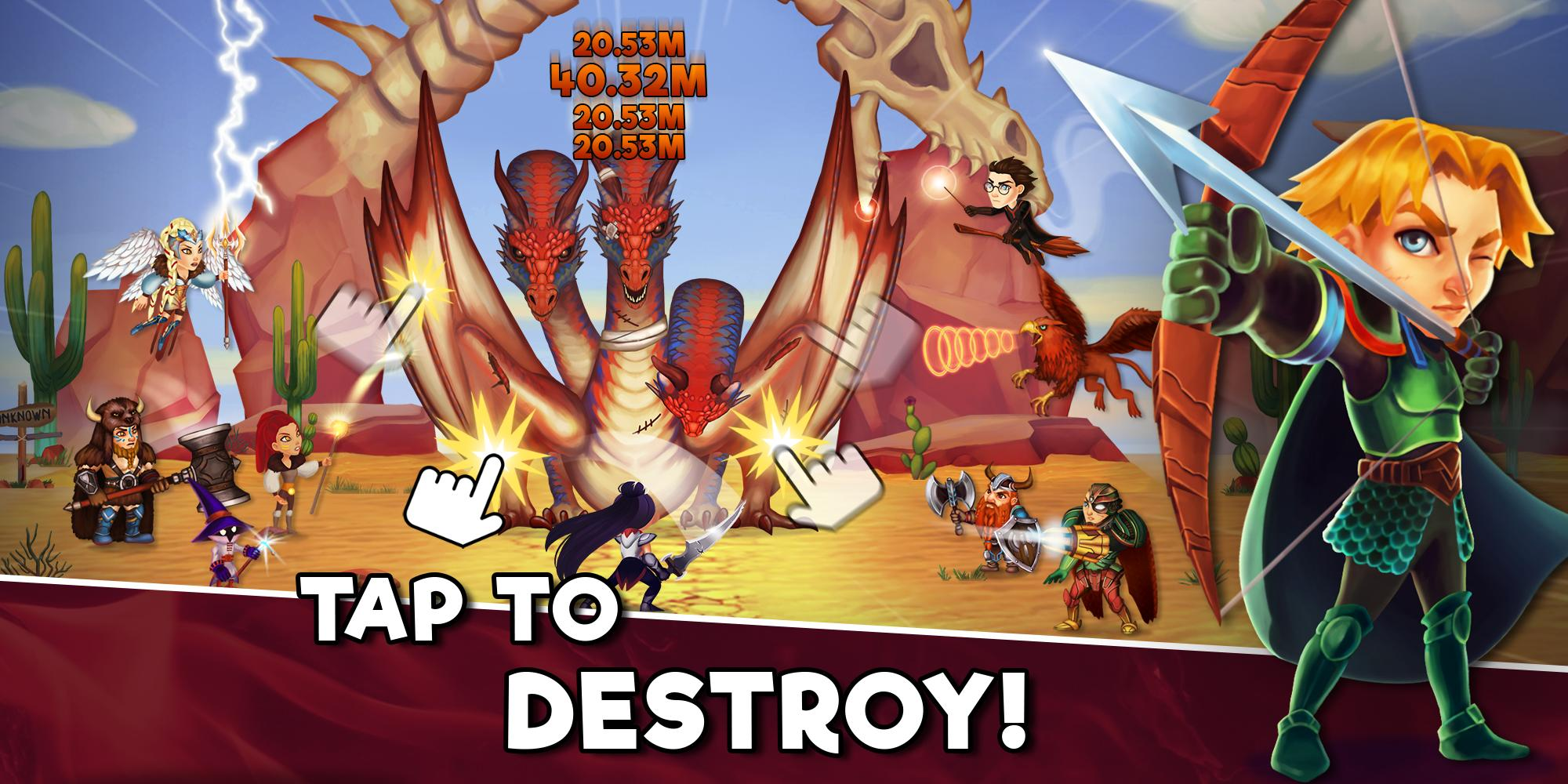 Taps Dragons - Clicker Heroes Fantasy Idle RPG for Android