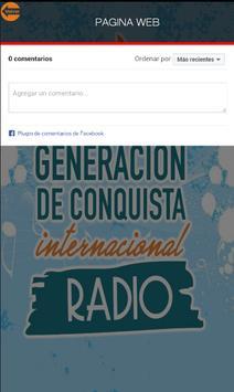 GENERACION DE CONQUISTA RADIO apk screenshot
