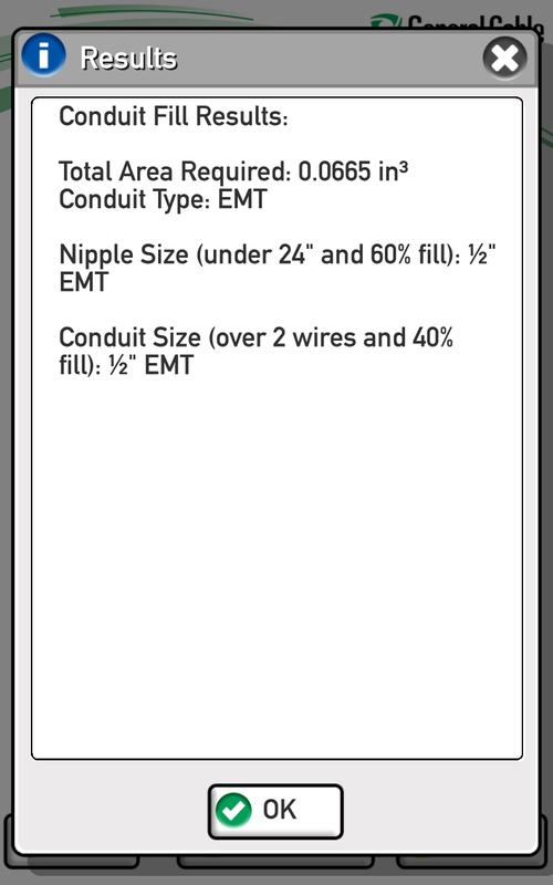 General cable conduit fill apk download free productivity app for general cable conduit fill apk screenshot greentooth Choice Image