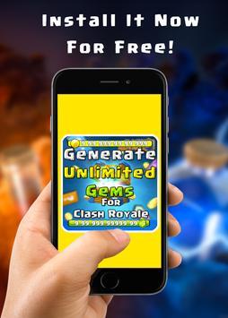 Gems for Clash Royale prank screenshot 7