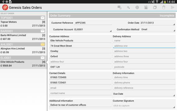 Sales Orders for Business screenshot 1