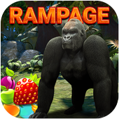 Rampage Gorilla relaxing adventure game 2018 icon
