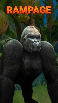 Rampage Gorilla relaxing adventure game 2018 poster