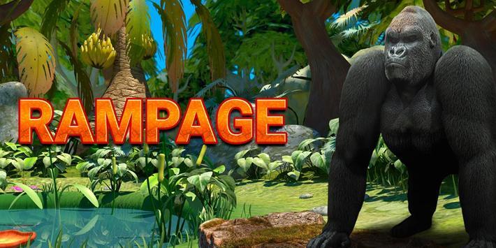 Rampage Gorilla relaxing adventure game 2018 screenshot 1