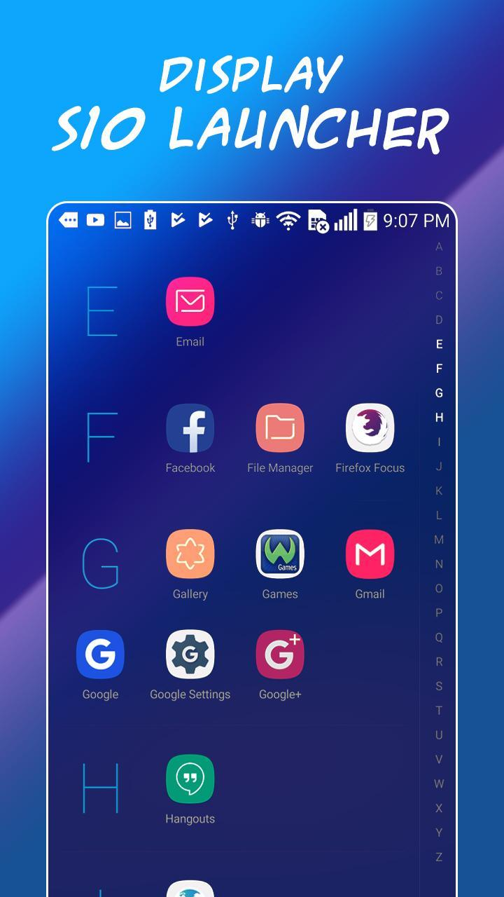Launcher Theme for Samsung Galaxy S10 for Android - APK Download