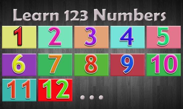 Learn 123 Numbers apk screenshot