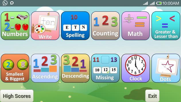 Preschool kids : Number & Math poster