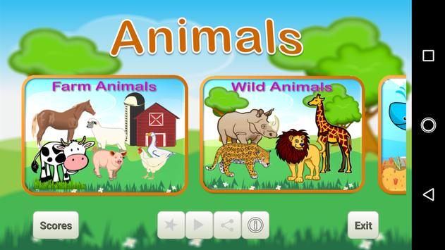 Learn Animals for Kids poster