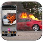 Dude your car - fire prank icon