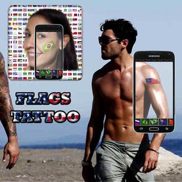 flags tattoo camera apk screenshot