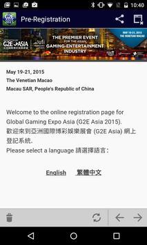 G2E Asia 2015 apk screenshot