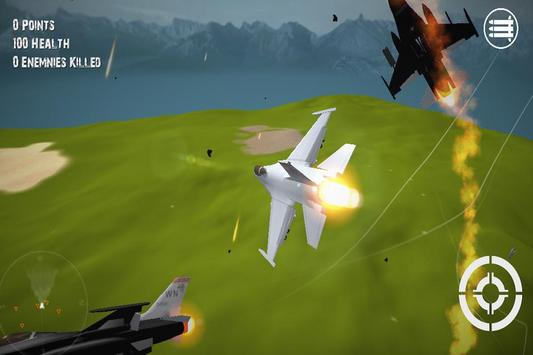 3D Plane Hero F16 2015 screenshot 2
