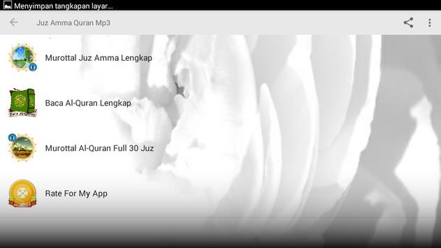 Juz Amma Quran Mp3 apk screenshot