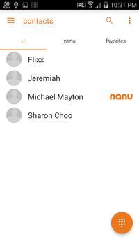 nanu - free calls for everyone captura de pantalla de la apk