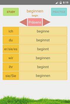 German Irregular Verbs apk screenshot