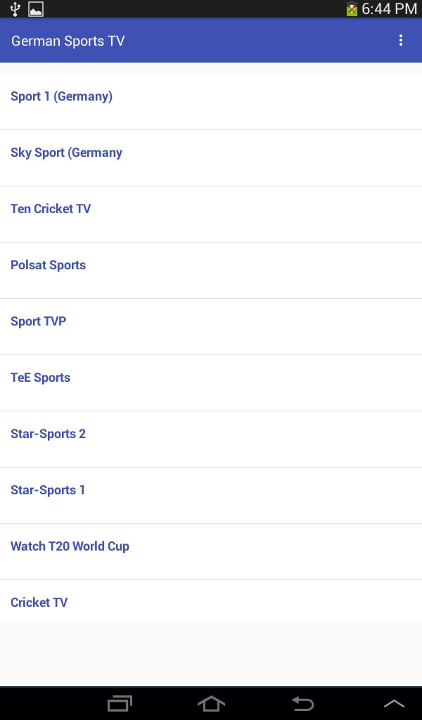 Germany Sports Channels HD for Android - APK Download