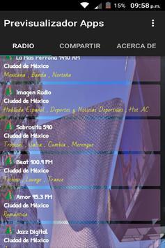 Radio del DF Ciudad de Mexico poster
