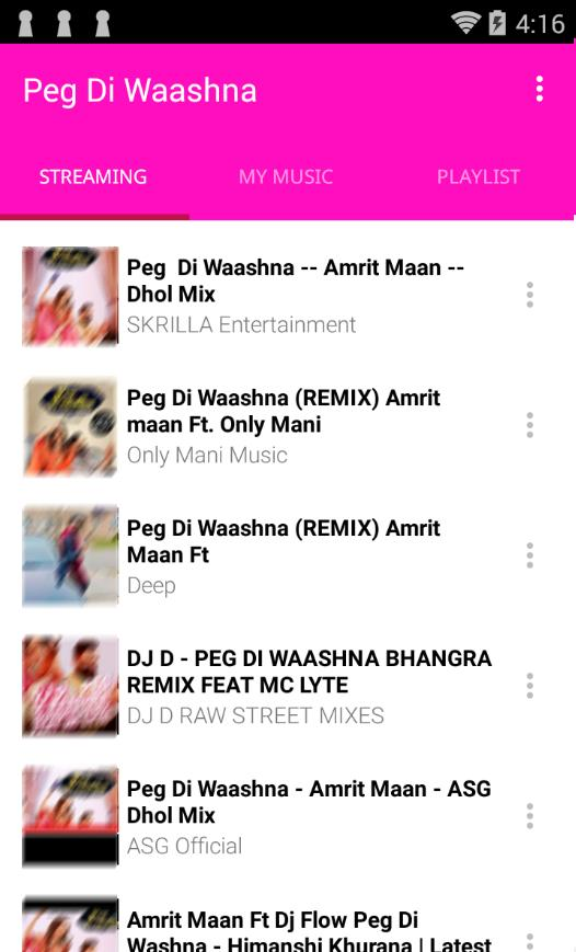 Peg Di Waashna Song Mp3 for Android - APK Download