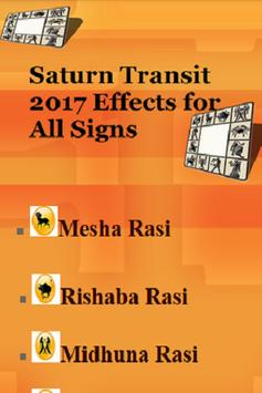 Saturn Transit 2017 Effects for All Signs poster