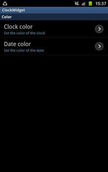 ClockWidget 4x1 5x1 screenshot 1