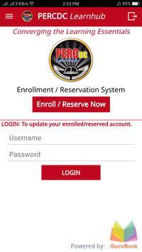 PERC Enroll - PERCDC Enrollment / Reservation App apk screenshot