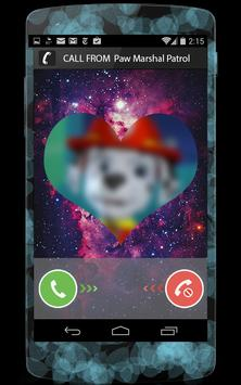Call from Paw Marshall Patrol prank poster