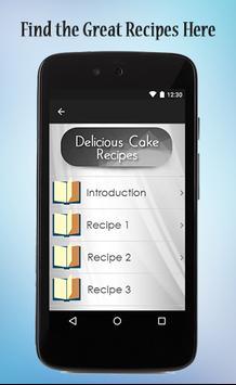 Delicious Cake Recipes Guide apk screenshot